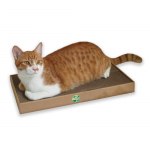 Cat Scratcher แผ่นฝนเล็บแมว+แคปนิปผง (ฺBrown)
