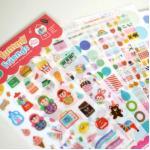 (12 แผ่น/ชุด) สติ๊กเกอร์ Yummy Friends Deco Sticker