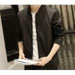 fashion แจ็คเก็ตผู้ชาย สไตล์เกาหลี สีดำ (รอสินค้า15-20วัน)