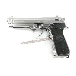 Beretta M92FS สีเงิน แต่ง ยางฮอป/ท่อรีด Poseidon - B&W