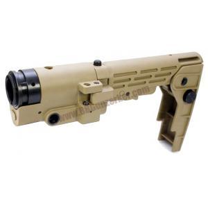พานท้ายพับ Retractable Folding สีทราย สำหรับปืนยาวไฟฟ้า