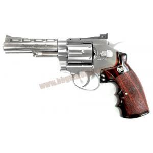 ปืนลูกโม่ 4 นิ้ว อัดแก๊ส Co2 สีเงิน - WinGun 701s