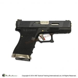Glock19 Brand War T5 สไลด์ดำ ท่อเงิน เฟรมดำ WE