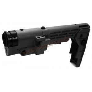 พานท้ายพับ Retractable Folding สีดำ สำหรับปืนยาวไฟฟ้า