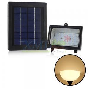 Energy saving 30 LED solar flood light with solar panel (Warm white)