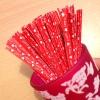 ลวดมัดปากถุง สีแดง I LOVE U บรรจุ 1,000 ชิ้น/ห่อ