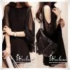minidress Brand Jinbeier มินิเดรสหรือเสื้อตัวยาว ตัวชุดผ้าคอตตอนผสมเนื้อดีสีดำ