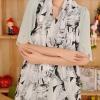 ผ้าพันคอ ชีฟอง สกรีนลาย Chiffon CF01-007