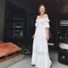 Dress ยาว สม็อคคอบคอ ปลายแ