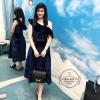 Velvet Dress เดรสไหล่เฉียง เนื้อผ้าสี