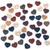Stitch Hearts Button
