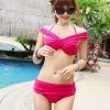 ชุดว่ายน้ำบิกินี่สุดเปรี้ยว สีชมพู ออกแบบการใส่ได้หลากหลายสไตล์ค่ะ น่ารักมากๆค่ะ ไซส์ M, L
