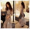 La flora maxi dress, Party Su version แม็กซี่เดรสแขนยาว เนื้อผ้าชีฟอง ลายสวย สีสวย