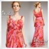 ASOS floral chiffon maxi dress