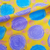 ผ้าญี่ปุ่น kokka (ลาย วงกลมพื้นเหลือง)