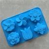 พิมพ์ซิลิโคน รูปดอกไม้ 6 ช่อง