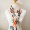 ผ้าพันคอ ชีฟอง สกรีนลาย Chiffon CF01-003