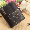 กระเป๋าสตางค์แฟชั่น ใบเล็กลายน้องหมีน่ารัก มีสีดำค่ะ