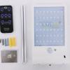 โคมไฟโซล่าเซลล์ ติดผนัง 48 SMD LED + Motion sensor สีขาว (เเสง : ขาว + เหลืองวอมไวท์)