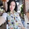 ผ้าพันคอ ชีฟอง สกรีนลาย Chiffon CF01-004