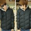 fashion เสื้อกันหนาว มีฮู๊ด สีดำ กรมท่า (รอสินค้า15-20วัน)