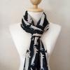 ผ้าพันคอ ชีฟอง สกรีนลาย Chiffon CF01-017