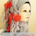 ผ้าฮิญาบ ผ้าคลุม อิสลาม แต่งดอก HJ1165