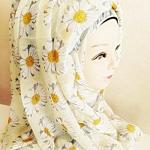 ผ้าคลุม อิสลาม ผ้าฝ้าย เดซี่ HJ1149