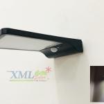 โคมไฟผนังโซล่าเซลล์ 36 SMD LED + Motion (โคมแบนดำ) ตัวเล็ก (แสง: ขาว)