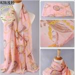 ผ้าพันคอ ชีฟอง สกรีนลาย Chiffon CF01-008