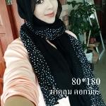 ผ้าฮิญาบ ผ้าคลุม อิสลาม ดอก มิยะ HJ1180