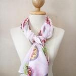 ผ้าพันคอ ชีฟอง สกรีนลาย Chiffon CF01-002