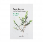 ** 1 แถม 1 ** Missha Pure Source Cell Sheet Mask 21g #Tea Tree