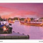 โปสการ์ด เรือพระที่นั่งสุพรรณหงส์ แม่น้ำเจ้าพระยา กรุงเทพฯ /เรือพระที่นั่ง/แม่น้ำเจ้าพระยา/วัดอรุณฯ