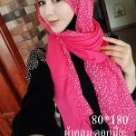 ผ้าฮิญาบ ผ้าคลุม อิสลาม ดอก มิยะ HJ1179