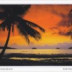 โปสการ์ด หาดไก่แบ้ อุทยานแห่งชาติหมู่เกาะช้าง จังหวัดตราด /ทะเล/ชายหาด/อุทยานแห่งชาติ/พระอาทิตย์ตก