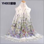 ผ้าพันคอ Pashmina พาสมีน่า ลาย ดอก ทิวลิป PS1052-2