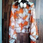 ผ้าพันคอ ชีฟอง Chiffon ผืนใหญ่ CF01016