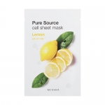 ** 1 แถม 1 ** Missha Pure Source Cell Sheet Mask 21g #Lemon