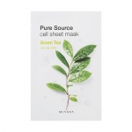 ** 1 แถม 1 ** Missha Pure Source Cell Sheet Mask 21g #Green Tea