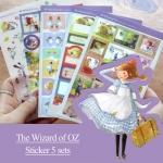 (5 แผ่น/ชุด) สติ๊กเกอร์ The Wizard of OZ
