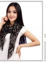ผ้าพันคอ ชีฟอง สกรีนลาย Chiffon CF01-027