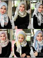 ผ้าคลุม อิสลาม ผ้าอาหรับ แบบ มีลาย R13005