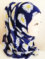 ผ้าคลุม อิสลาม ผ้าฝ้าย เดซี่ HJ1150
