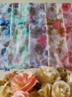 ผ้าคลุม อิสลาม วิสคอส viscose พิมพ์ลาย ดอกกุหลาบ HJ07024