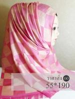 ผ้าฮิญาบ ผ้าคลุม อิสลาม ซิลซาติน HJ1166