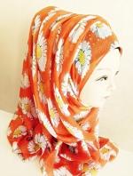 ผ้าฮิญาบ ผ้าคลุม อิสลาม ดอก เดซี่ HJ1174