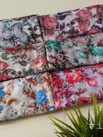 ผ้าคลุม อิสลาม วิสคอส viscose พิมพ์ลาย ดอกไม้ HJ07023