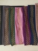 ผ้าคลุม ชีฟอง CHIFFON สีพื้น แต่งขอบ