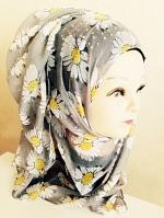 ผ้าคลุม อิสลาม ผ้าฝ้าย เดซี่ HJ1147